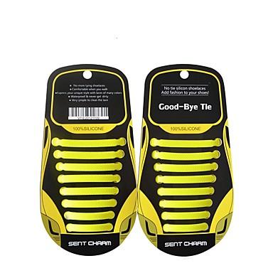 abordables Accessoires pour Chaussures-1 Pièce Silicone Lacet Unisexe Printemps Quotidien Vert / Bleu / gris foncé