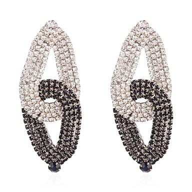 Χαμηλού Κόστους Μοδάτα Σκουλαρίκια-Γυναικεία Δίχρωμο Κρεμαστά Σκουλαρίκια  Προσομειωμένο διαμάντι Σκουλαρίκια Πολυτέλεια Κοσμήματα Μαύρο Για aa1575a165c