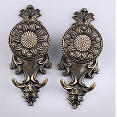 Curtain Accessories  Metal Door Hooks Steel Alloy 2pcs