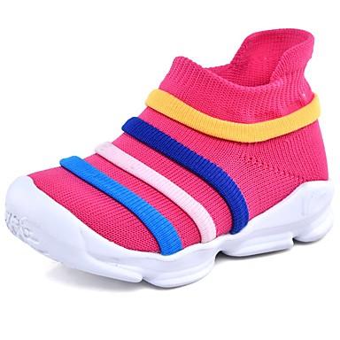 Tyttöjen Elastinen kangas Bootsit Taapero (9m-4ys) / Pikkulapset (4-7 vuotta) Comfort Fuksia / Sininen / Pinkki Kevät / Nilkkurit