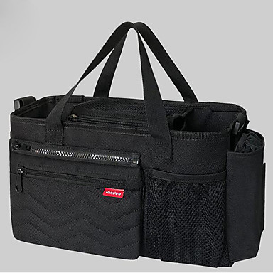Zipper Diaper Bag Polyester Daily Black / Red / Gray