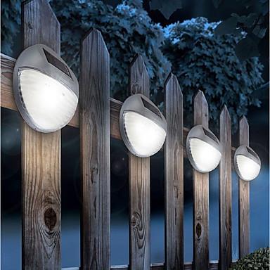 billige Utendørsbelysning-1pc 5w plen lys ledet dekorative street lights sol vegg lys hvit 1.2 v utendørs belysning gårdsplass hage 2 ledet perler