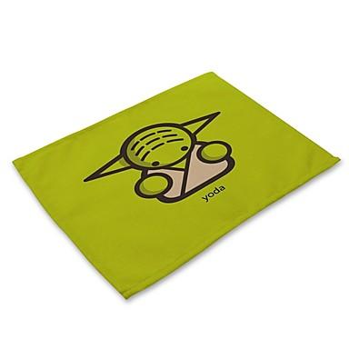 Contemporary Nonwoven Square Placemat Geometric Eco-friendly Table Decorations 1 pcs