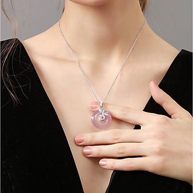 billige Mote Halskjede-Dame Halskjede Asiatisk Kobber Rosa 40+5 cm Halskjeder Smykker 1pc Til Bursdag Gave Valentine