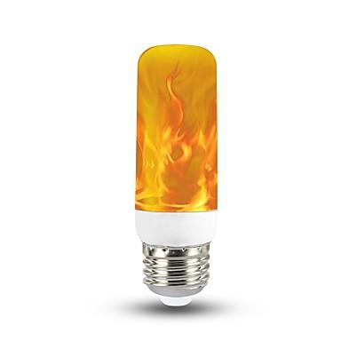 abordables Ampoules électriques-1pc 3 W Ampoules Globe LED 150 lm E26 / E27 T 40 Perles LED SMD 2835 Décoration de mariage de Noël Flamme vacillante Feu d'artifice en 3D Jaune chaud 85-265 V / RoHs / FCC
