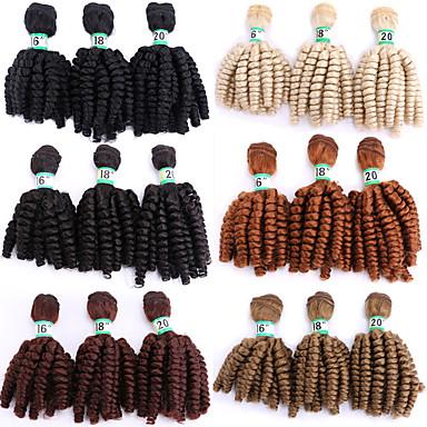 Laflare Ombre Szintetikus kiterjedés Hullámos Szintetikus haj Közepes hossz Póthaj haj sző 3 darab Szerepjáték Állítható Legjobb minőség Női Karácsony Esküvő Halloween