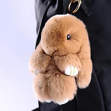 baratos Bijuteria de Mulher-Rabbit Chaveiro Amarelo Marron Pele Para