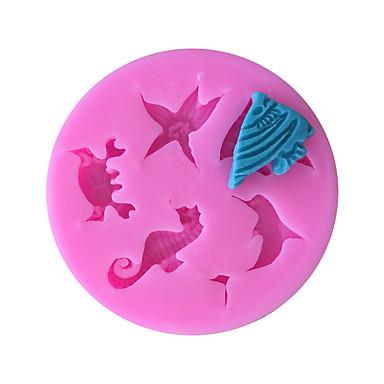 delfiinit hippokampus meritähti silikoni muotti fondant kakku koristelu keittiö työkalut