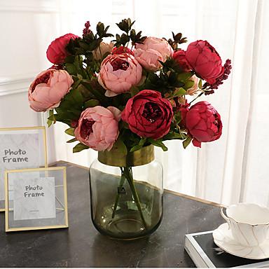 Keinotekoinen Flowers 1 haara Klassinen Näyttämötarpeet Häät Pioonit Eternal Flowers Pöytäkukka