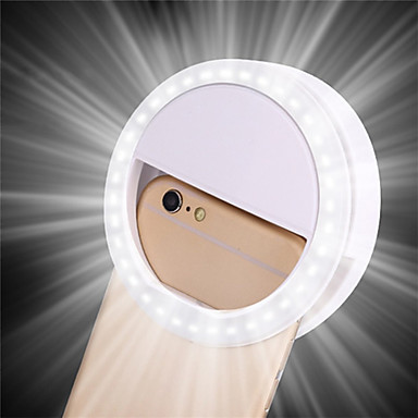 cheap Lamps&Lights-1pc Portable Clip Selfie Lamp Mobile Phone Circle Ring Flash Lens Beauty Fill Light Lamp For Cell Phone Smartphone