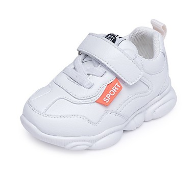 baratos Para Crianças de 0-9 Meses-Para Meninos Couro Sintético Tênis Crianças (0-9m) / Criança (9m-4ys) Conforto / Primeiros Passos Caminhada Branco / Preto / Bege Primavera