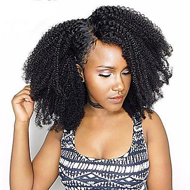 baratos Extensões de Cabelo Natural-3 pacotes Cabelo Brasileiro Afro Afro Kinky 10A Cabelo Natural Remy Cabelo Humano Tecer 10inch-22inch Natural Tramas de cabelo humano Sem Cheiros Macio Venda imperdível Extensões de cabelo humano