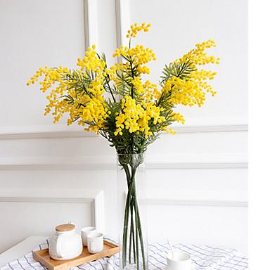 Keinotekoinen Flowers 1 haara Klassinen Tyylikäs minimalistisesta Leinikit Ritarinkannukset Pöytäkukka