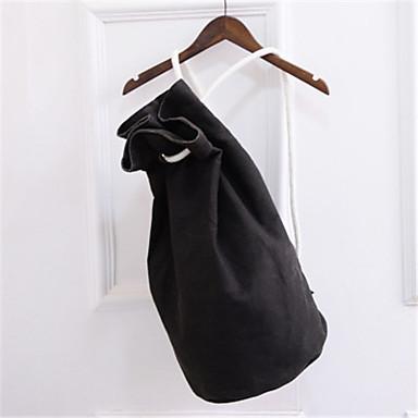 女性用 バッグ キャンバス バックパック ティアード 純色 グリーン / ブラック