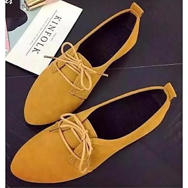 Naisten PU Kevät Oxford-kengät Tasapohja Musta / Keltainen / Vihreä