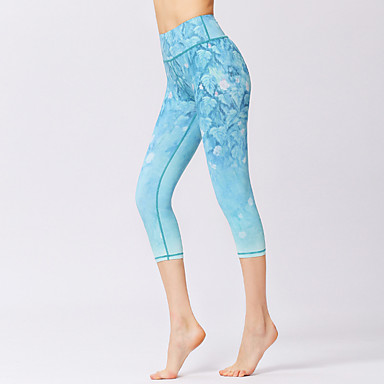 Naisten Joogahousut Urheilu 3D Print 3/4 Capri-housut Fitness Kuntosaliharjoitus Activewear Hengittävä Kosteuden siirtävä Nopea kuivuminen Hikeä siirtävä Elastinen Ohut