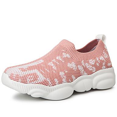 Affidabile Per Donna A Maglia Primavera & Autunno Per Sport - Casual Sneakers Piatto Bianco - Nero - Rosa #07247365 Prima Qualità