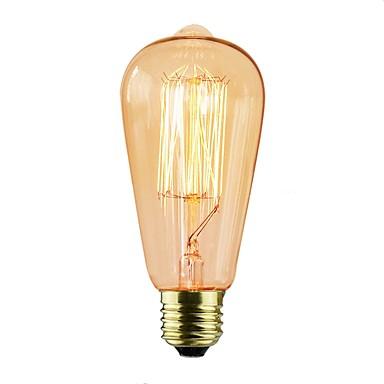 6kpl 40 W E26 / E27 ST64 Himmennetty Vintage Edison-hehkulamppu 220-240 V / 110-120 V