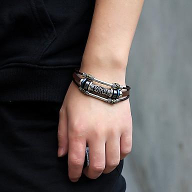 fda741e245c Men's Women's Vintage Bracelet Leather Bracelet Bracelet Braided Totem  Series Statement Unique Design Trendy Rock Fashion Stainless Steel Bracelet  Jewelry ...