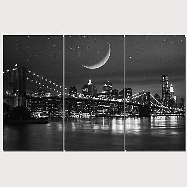 Print Stretched Canvas Prints - Modern Realism Classic Modern Three Panels Art Prints