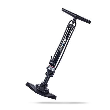 billige Sykkeltilbehør-SAHOO Bike Floor Pump med måler Bærbar Lettvekt Holdbar Høytrykk Presis oppblåsning Til Vei Sykkel Fjellsykkel Foldesykkel Sykkel med fast gir Sykling Aluminiumslegering Svart