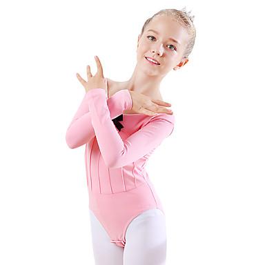 Dansetøj til børn / Ballet Trikoter Pige Træning / Ydeevne Bomuld Sløjfe(r) Langærmet Naturlig Trikot / Heldragtskostumer