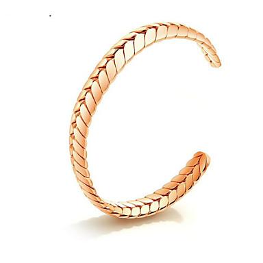 abordables Bracelet-Manchettes Bracelets Femme Spiga Acier au titane Botanique Elégant Bracelet Bijoux Dorée Forme C pour Cadeau Quotidien