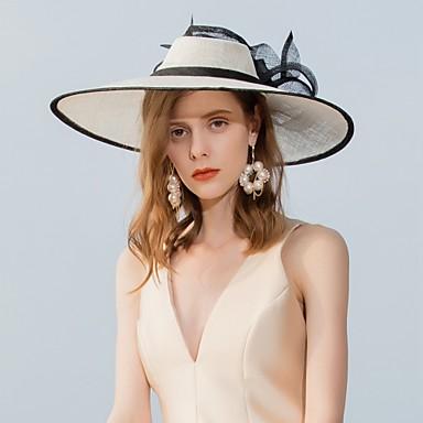 Lin Chapeaux avec Plume 1pc Mariage / Fête / Soirée Casque