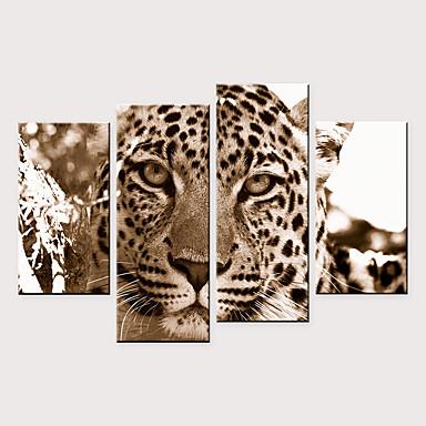 abordables Toiles-Imprimé Impressions sur toile roulées - Animaux Moderne Quatre Panneaux Art Prints