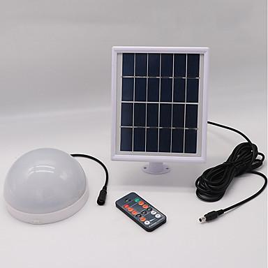 billige Utendørsbelysning-1pc 5 W Solar Wall Light Vanntett / Fjernstyrt / Solar Varm hvit + hvit 3.7 V Utendørsbelysning / Courtyard / Have 24 LED perler