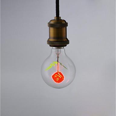 1kpl 2 W LED-pallolamput 100-160 lm E26 / E27 G80 1 LED-helmet Liekki Vilkkuminen 220-240 V