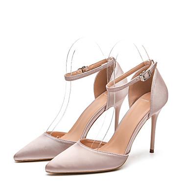 99dc66c1b Недорогие Женская обувь на каблуках-Жен. Шёлк Весна лето / Наступила зима  На каждый