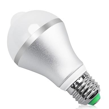 abordables Ampoules électriques-1pc 9 W Ampoules LED Intelligentes 900 lm E26 / E27 A60(A19) 9 Perles LED SMD 5730 Elégant Capteur infrarouge Contrôle de la lumière Blanc Froid Blanc 85-265 V / RoHs