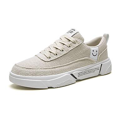 Acquista A Buon Mercato Per Uomo Scarpe Comfort Pu (poliuretano) Estate Sneakers Footing Bianco - Nero - Beige #07289394 Originale Al 100%