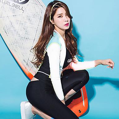 Naisten Skin-tyyppinen märkäpuku Sukelluspuvut UV-aurinkosuojaus Full Body Uinti Sukellus Yhtenäinen Kesä / Mikrojoustava