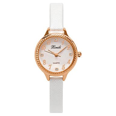 baratos Relógios Senhora-Mulheres Relógios de Quartzo Casual Fashion Preta Branco Rosa Couro PU Chinês Quartzo Branco Preto Rosa Relógio Casual Adorável 30 m 1 Pça. Analógico Um ano Ciclo de Vida da Bateria