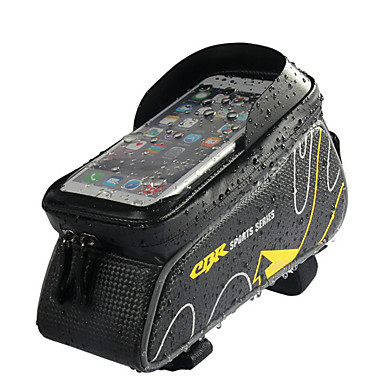 abordables Sacoches de Vélo-Sac de téléphone portable Sac Cadre Velo 6 pouce Etanche Cyclisme pour Cyclisme Rouge Gris Foncé Gingembre Activités Extérieures Cyclisme / Vélo Vélo Cyclisme