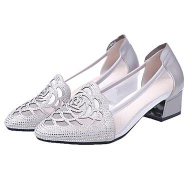 a613ae4247f billige Højhælede sko til damer-Dame Net / PU Forår Minimalisme Hæle  Kraftige Hæle Spidstå