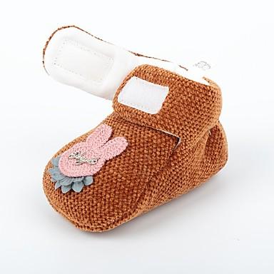 voordelige Babyschoenentjes-Meisjes Comfortabel / Eerste schoentjes Tricot Laarzen Zuigelingen (0-9m) Fuchsia / Donker Bruin / Khaki Herfst winter / Korte laarsjes / Enkellaarsjes