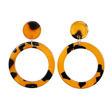 voordelige Dames Sieraden-Dames Oorbel meetkundig Europees modieus Modieus Modern oorbellen Sieraden Wit / Regenboog / Bruin Voor Straat Uitgaan Club Bar 1 paar