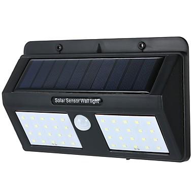 abordables Éclairage Extérieur-1pc 6 W Lampe murale solaire Solaire / Capteur infrarouge Blanc Froid 3.7 V Eclairage Extérieur / Cour / Jardin 40 Perles LED