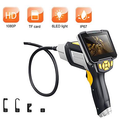 voordelige Microscopen & Endoscopen-1 m 3,5 m 5 m 10 m digitale endoscoop slang pijplijn industriële endoscoop 4.3 inch lcd borescope videoscope met cmos sensor semi-stijve inspectie camera handheld endoscoop