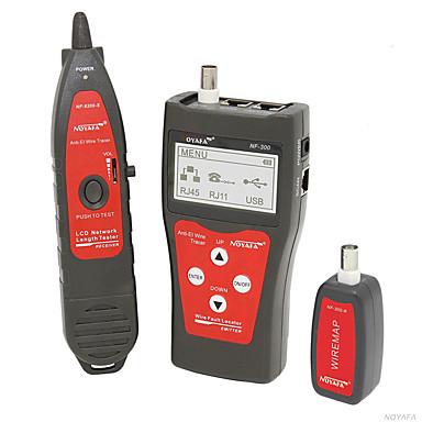 voordelige Test-, meet- & inspectieapparatuur-noyafa® nf-300 ethernet-netwerk coaxiaal draadlengtetester met poortflitsfunctie