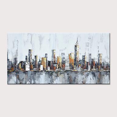 abordables Peintures à l'Huile-Peinture à l'huile Hang-peint Peint à la main - Abstrait Paysage Classique Moderne Sans cadre intérieur