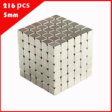 levne Magnetické hračky-216 pcs 5mm Magnetické hračky Magnetický blok Stavební bloky Super Strong magnetů ze vzácných zemin Neodymové magnety Stres a úzkost Relief Office Desk Toys Udělej si sám Dětské / Dospělé Chlapeck