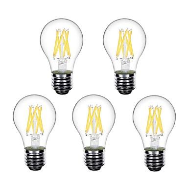 5pcs 4 W LED-pallolamput LED-hehkulamput 450 lm E26 / E27 A60(A19) 6 LED-helmet Teho-LED Koristeltu Lämmin valkoinen 220-240 V 220 V 230 V / RoHs