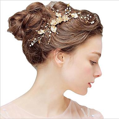 abordables Coiffes-Alliage Bandeaux avec Peigne florale / Fleur 1 Pièce Mariage / Fête / Soirée Casque