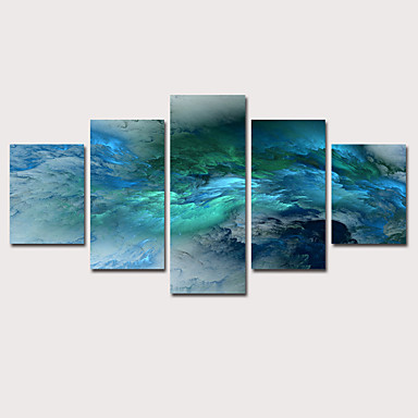 abordables Toiles-Imprimé Impression sur Toile - Abstrait Céleste Classique Rétro Vintage Cinq Panneaux Art Prints