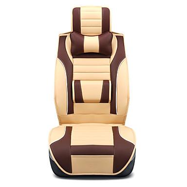 رخيصةأون اكسسوارات السيارات الداخلية-أغطية مقاعد السيارات أغطية المقاعد بني / برتقالي / البيج PU الأعمال التجارية من أجل عالمي كل السنوات