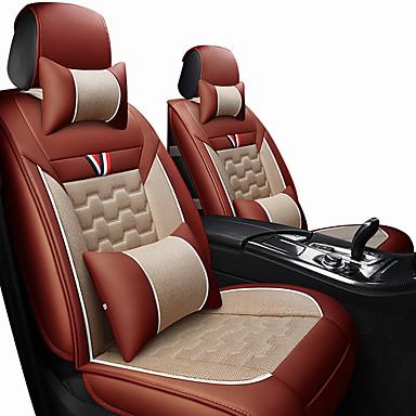 voordelige Auto-interieur accessoires-autostoelbekleding hoofdsteun& taillekussensets zwart / rood / oranje / zwart synthetische vezel / leer algemeen / handel voor universele algemene motoren